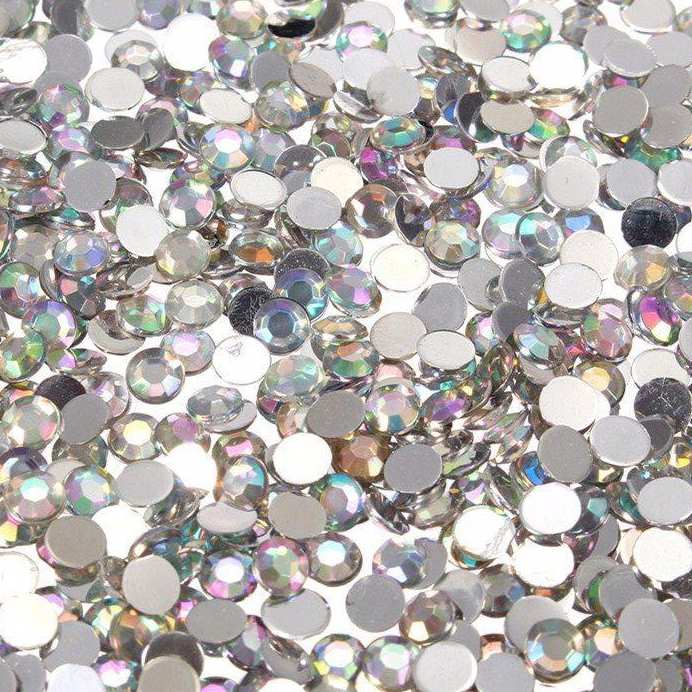 SS13 (3.2 to 3.3mm) Flat Back Rhinestones, Crystal AB (800)
