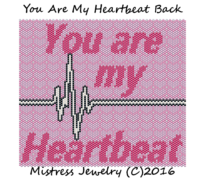 You are my HeartBeat Back Wordmap and Chart