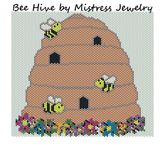 Bee Hive Word Map & Chart