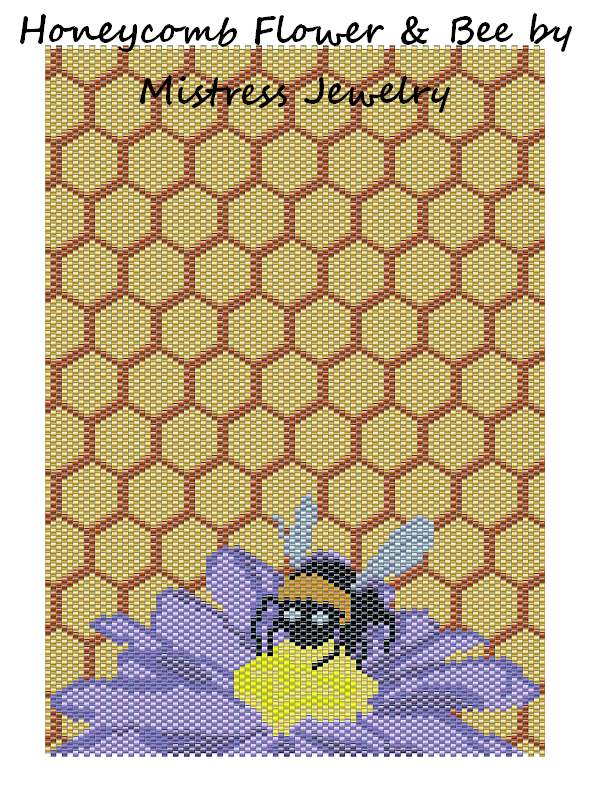 Honeycomb Flower Bee Word Map & Chart
