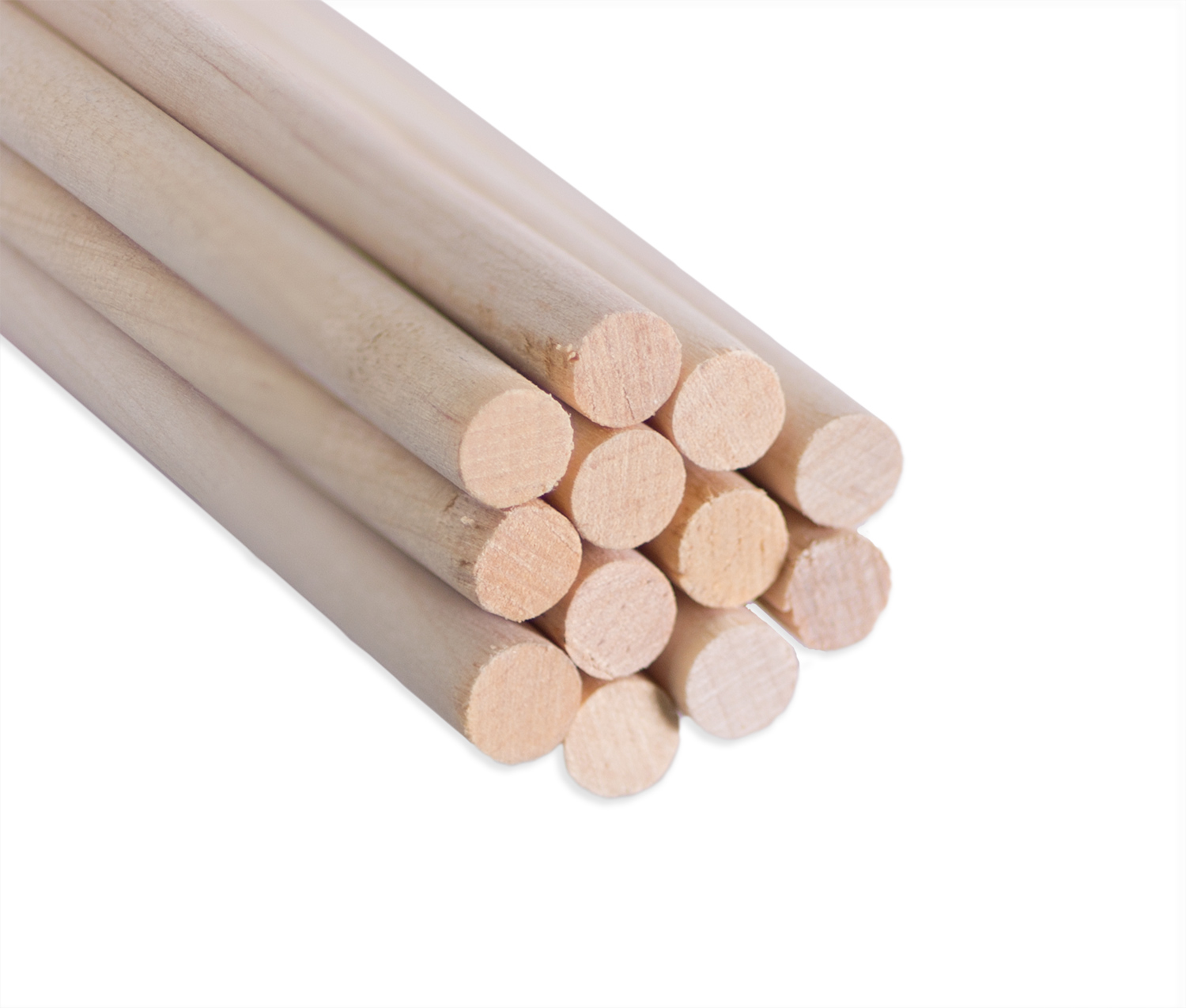 "Wood Dowel Rod 1/4"" x 6"" - 12 Pack"