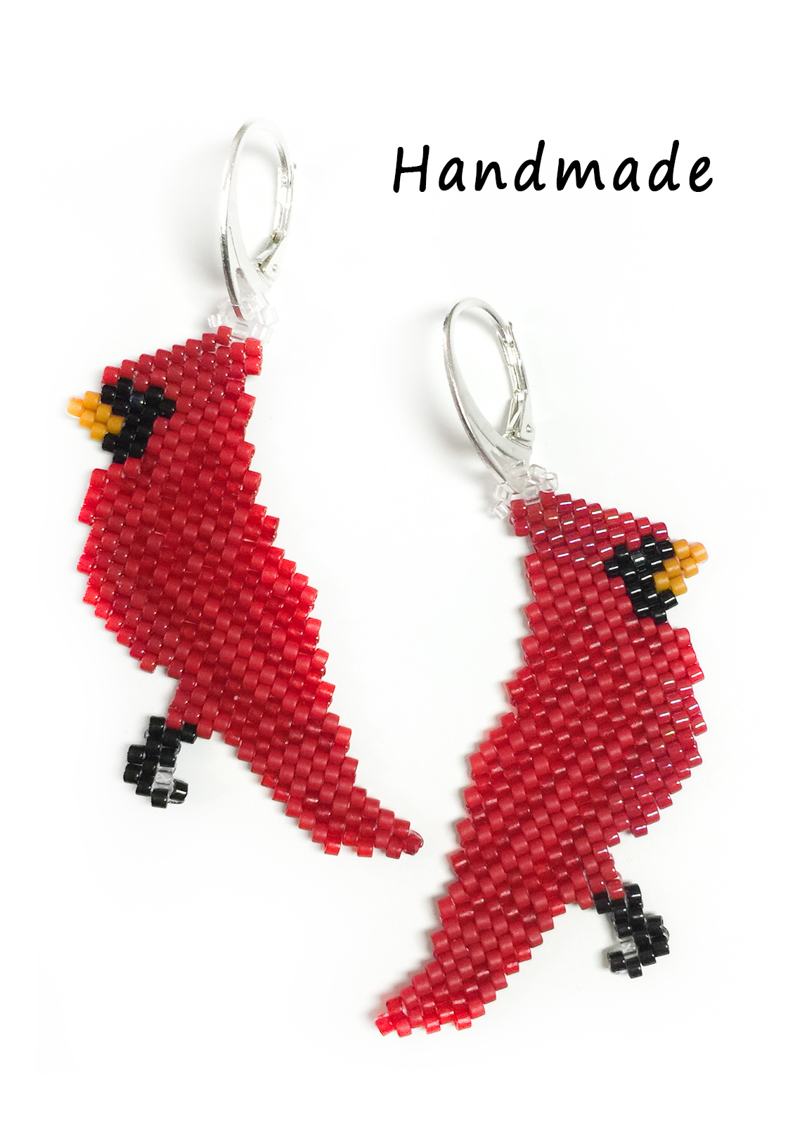 Cardinal Earrings (Lever back)