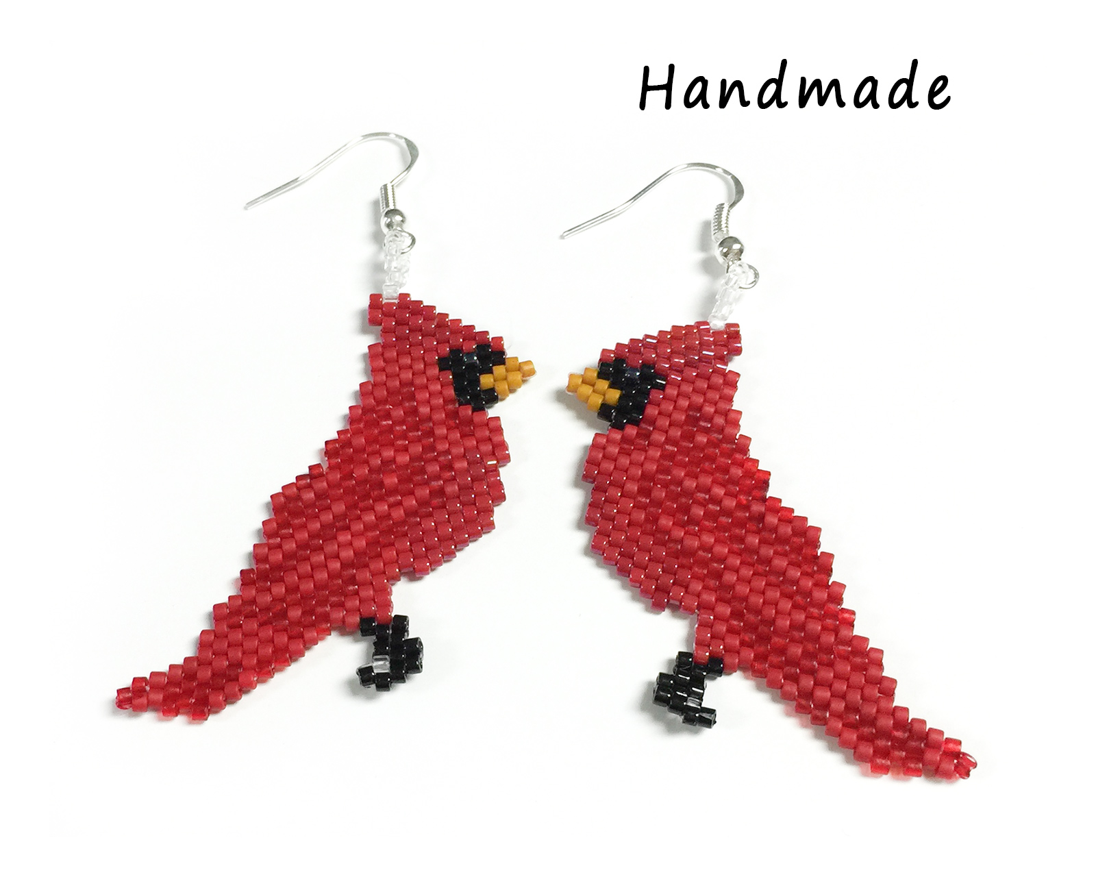 Cardinal Earrings (Fish Hook)