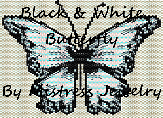 Black & White Butterfly Word Map & Chart