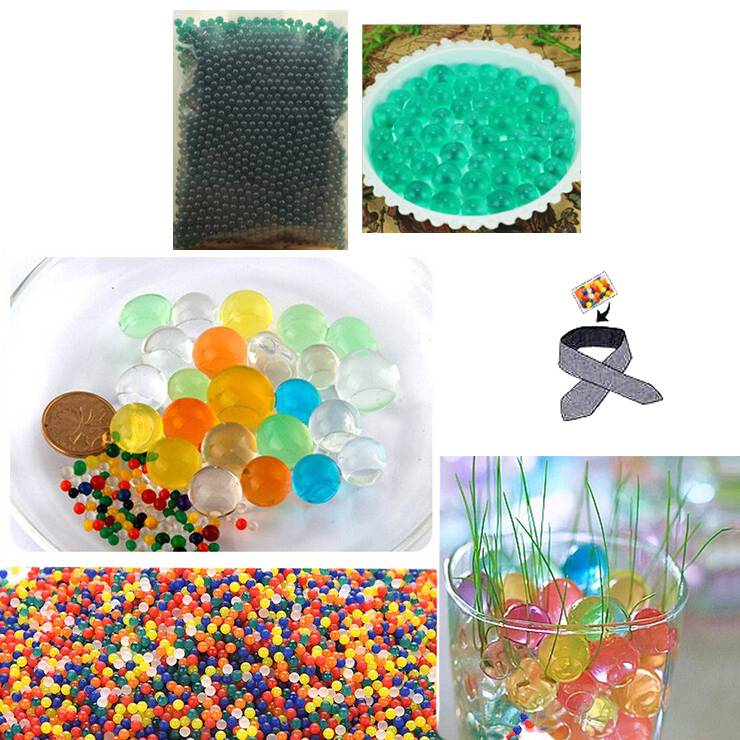 Water Beads, Craft-Home Decor-Cooling, 5 grams Dry, Aqua