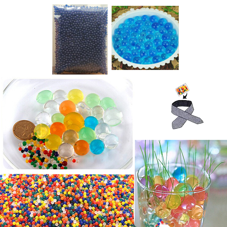Water Beads, Craft-Home Decor-Cooling, 5 grams Dry, Blue