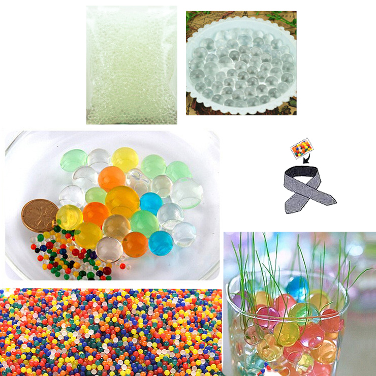 Water Beads, Craft-Home Decor-Cooling, 5 grams Dry, Clear