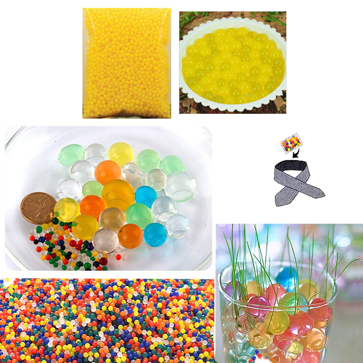 Water Beads, Craft-Home Decor-Cooling, 5 grams Dry, Golden