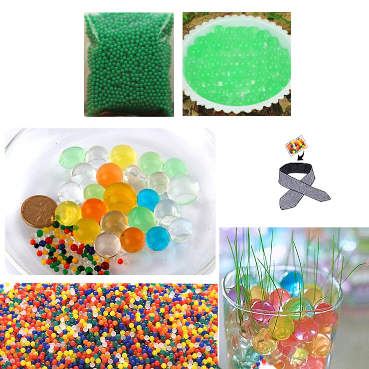 Water Beads, Craft-Home Decor-Cooling, 5 grams Dry, Green Light