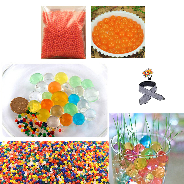 Water Beads, Craft-Home Decor-Cooling, 5 grams Dry, Orange