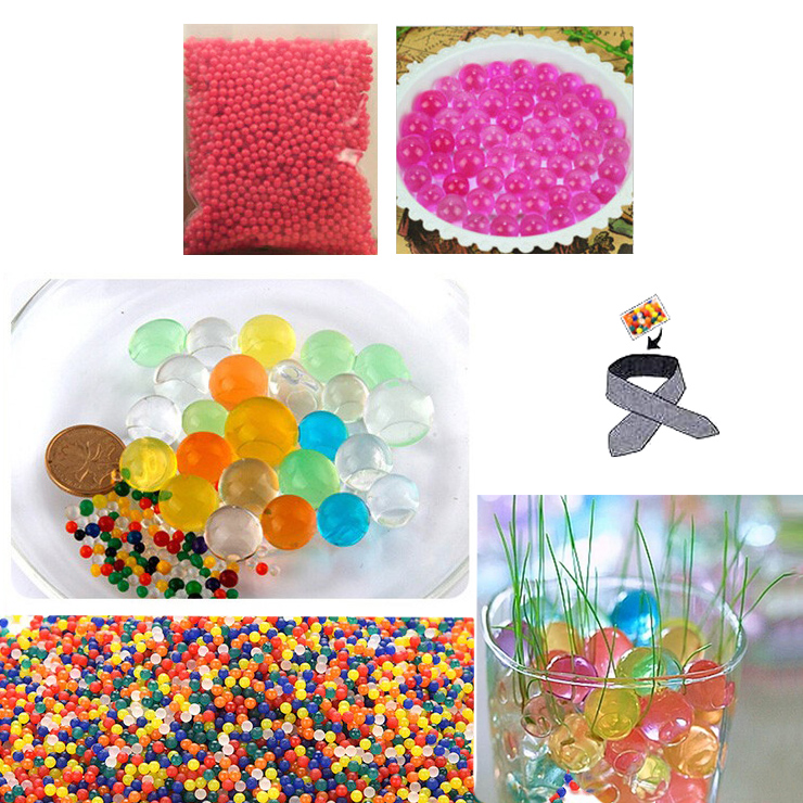 Water Beads, Craft-Home Decor-Cooling, 5 grams Dry, Pink