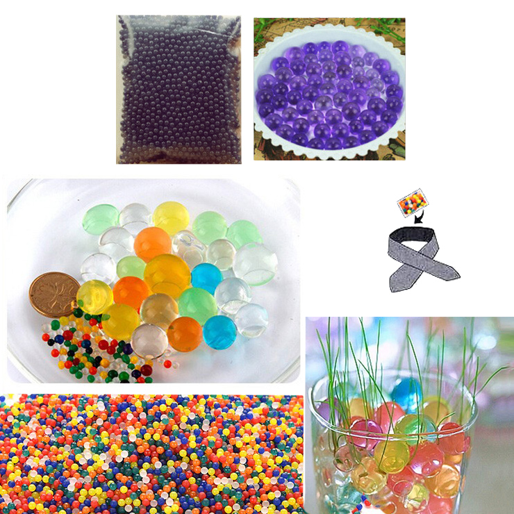 Water Beads, Craft-Home Decor-Cooling, 5 grams Dry, Purple