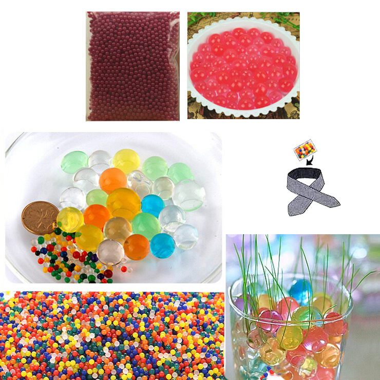 Water Beads, Craft-Home Decor-Cooling, 5 grams Dry, Red