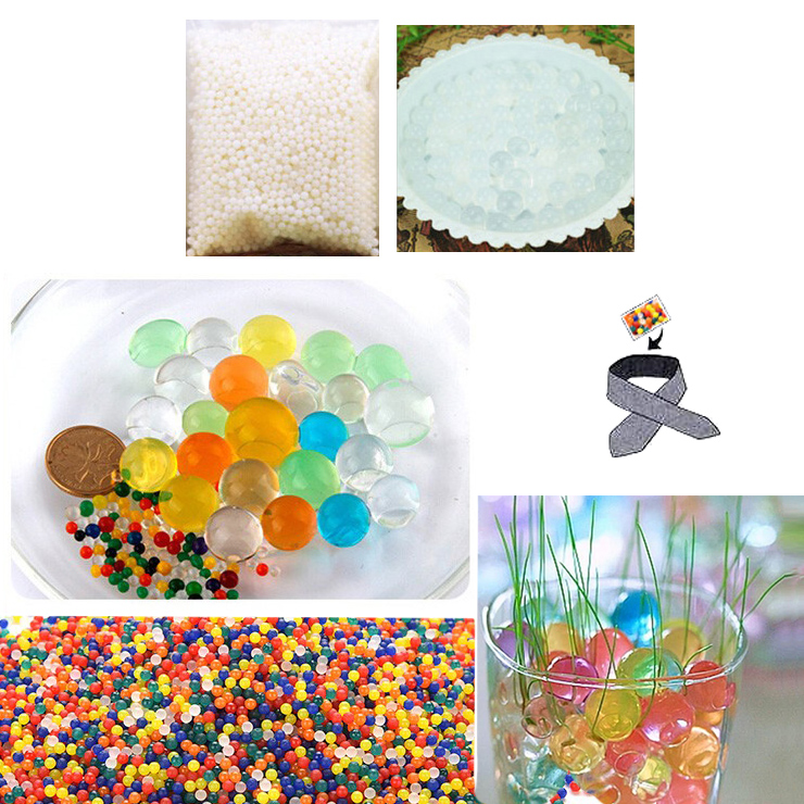 Water Beads, Craft-Home Decor-Cooling, 5 grams Dry, White