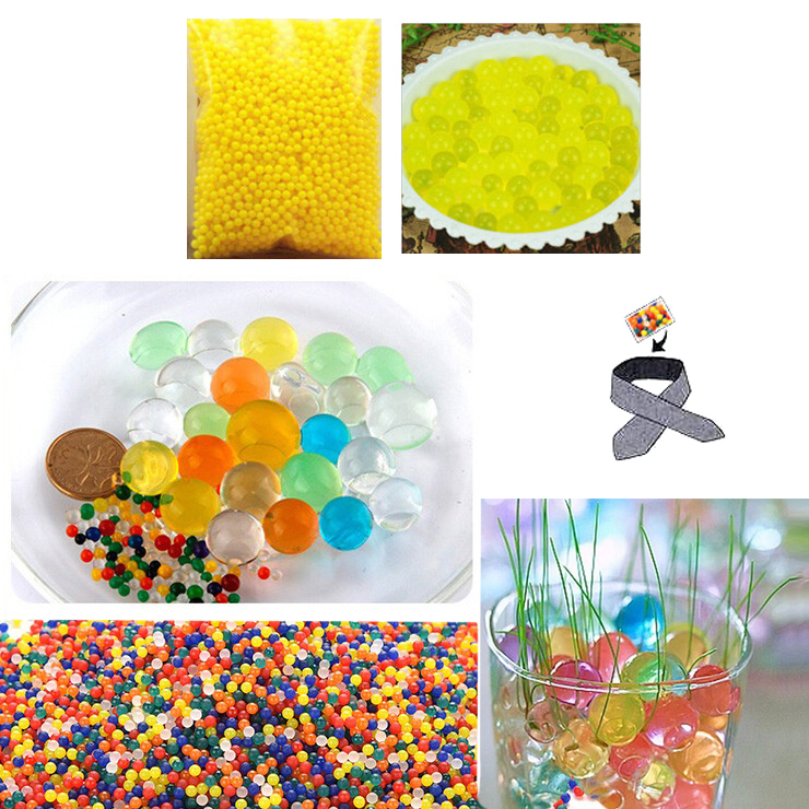 Water Beads, Craft-Home Decor-Cooling, 5 grams Dry, Yellow