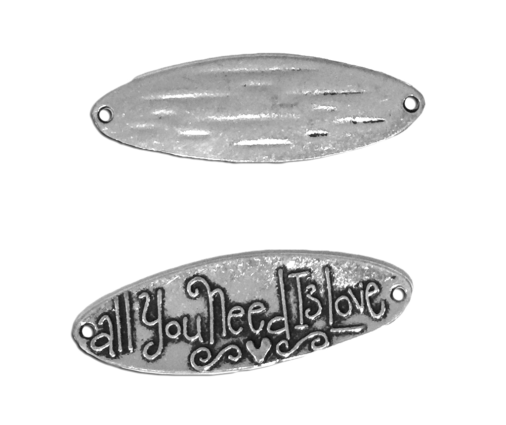 All You Need Is Love Antique Silver Charm (2)