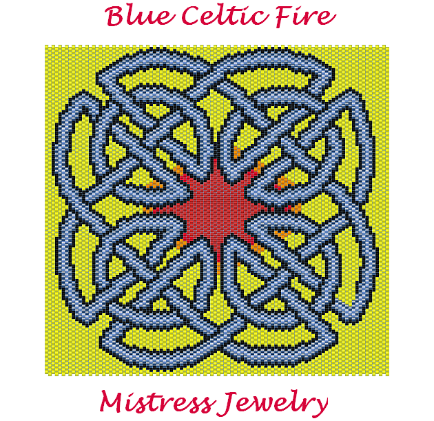 Blue Celtic Fire Word Map & Chart