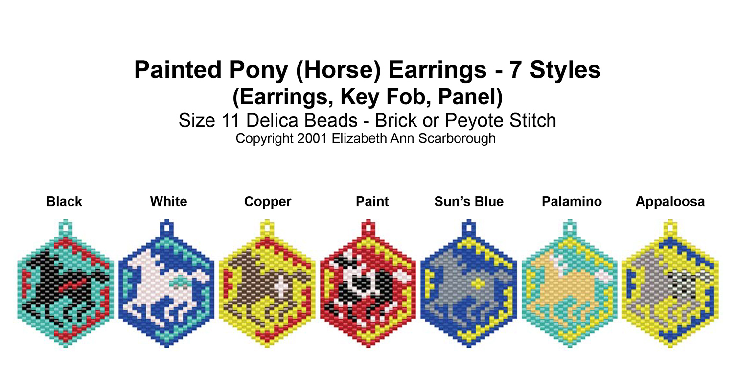 Painted Pony (Horse) Earrings - 7 Styles