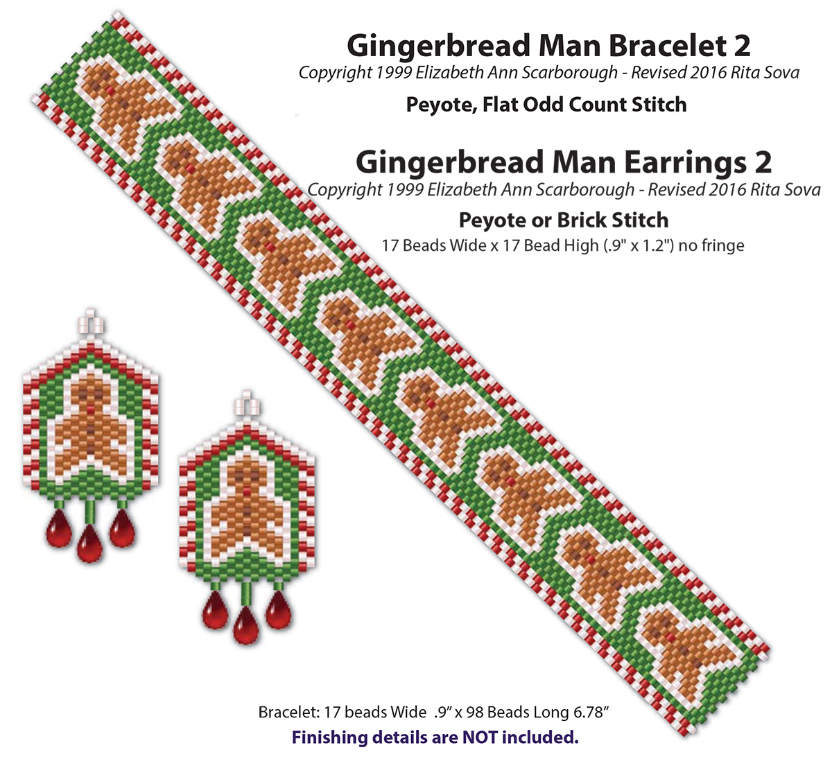 Gingerbread Man Bracelet 2 and Earrings 2