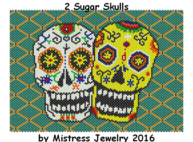 2 Sugar Skulls Word Map & Chart