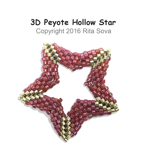 3D Peyote Hollow Star