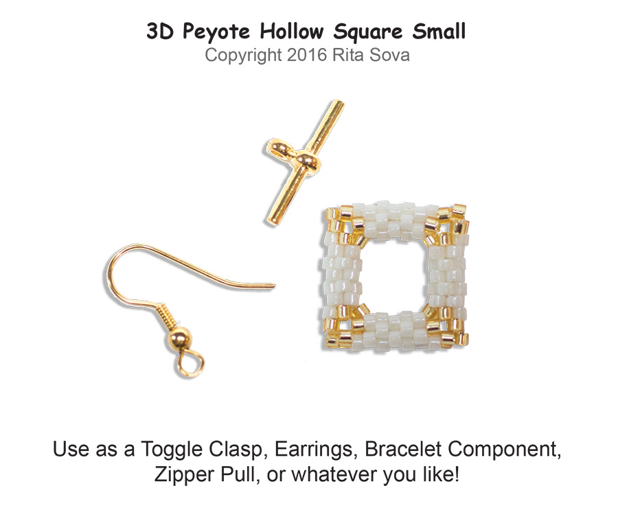 3D Peyote Hollow Square Small