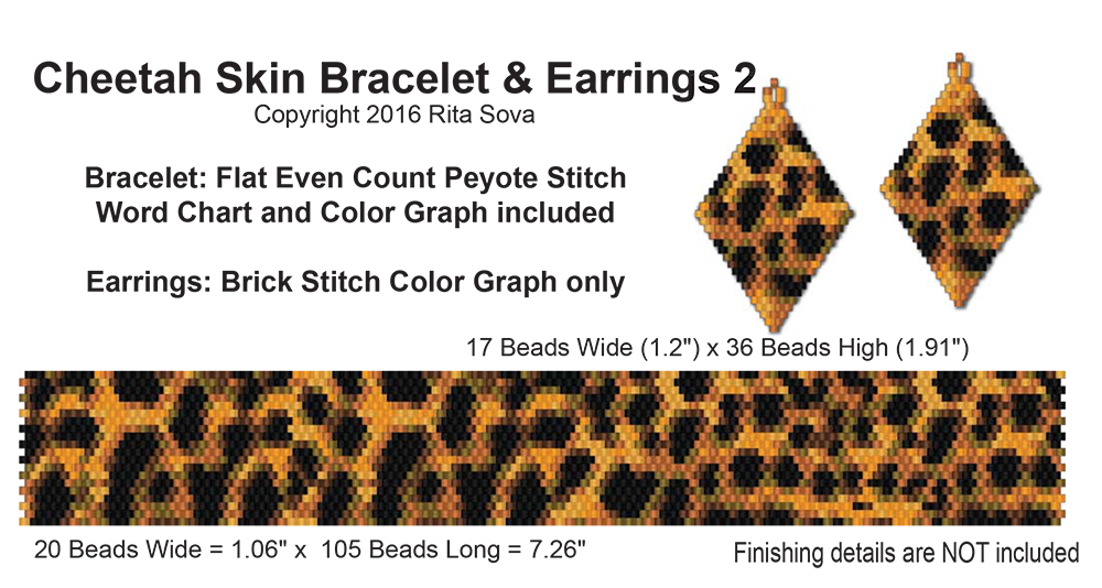 Cheetah Skin Bracelet & Earrings 2