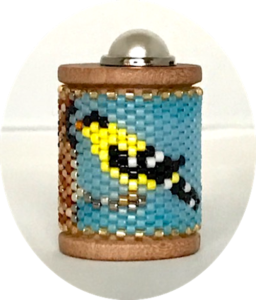 Gold Finch Spool Ornament