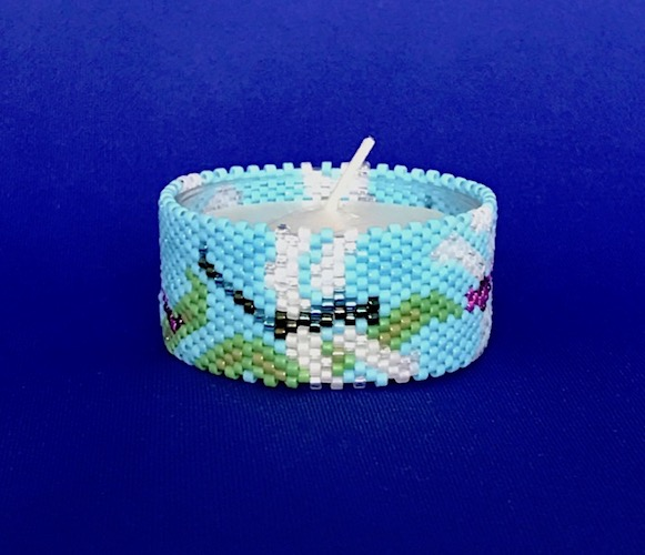 Dragonfly Tea Light Cover / Napkin Ring