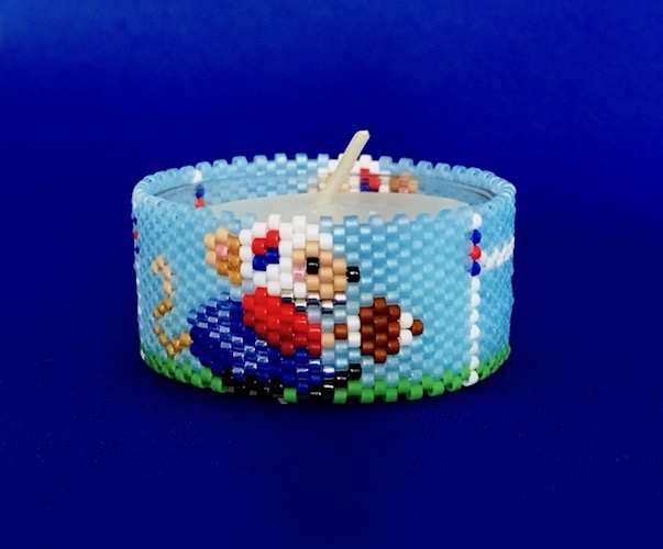 Mouse Football Tea Light Cover / Napkin