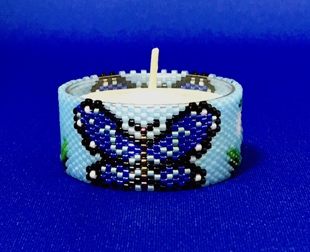 Butterfly & Snowdrop Tea Light Cover / Napkin Ring
