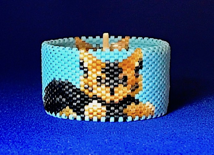 Yorkie Pup Tea Light Cover / Napkin Ring