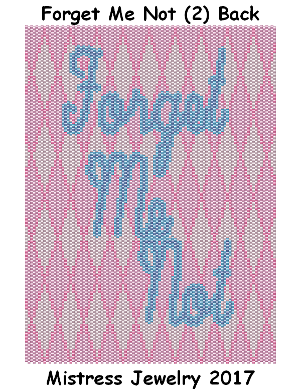 Forget Me Not (2) Back Word Map & Chart