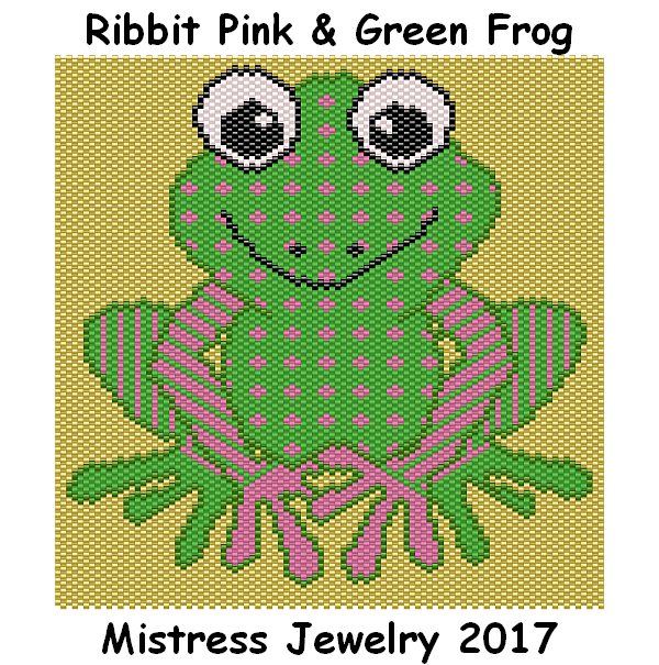 Ribbit Pink & Green Frog Word Map & Chart
