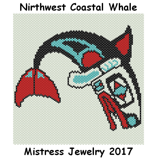 Northwest Coastal Whale Word Map & Chart