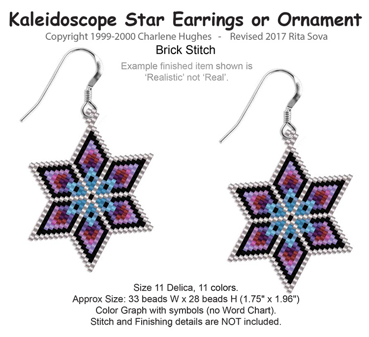 Kaleidoscope Star Earrings