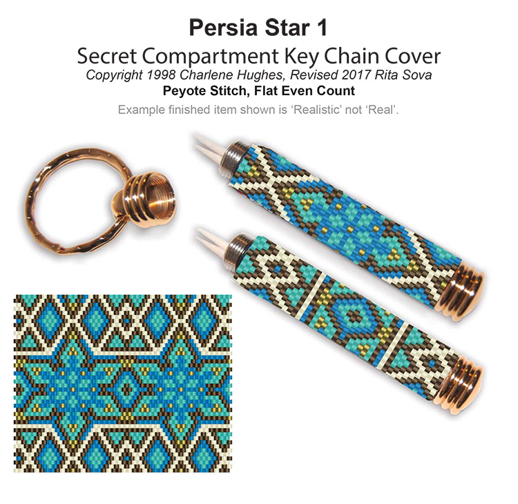 Persia Star 1 Secret Compartment Key Chain Cover