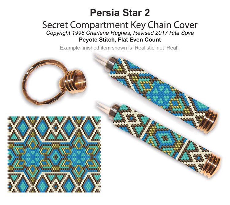 Persia Star 2 Secret Compartment Key Chain Cover