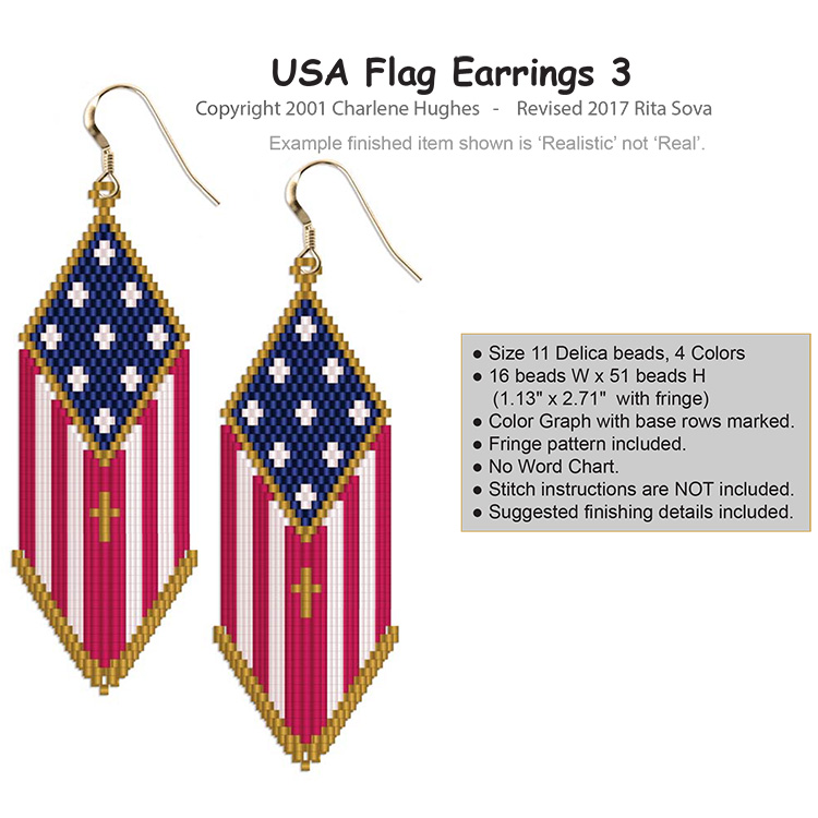USA Flag Earrings 3