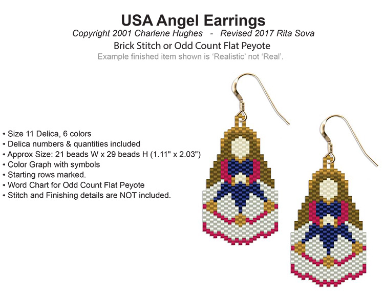 USA Angel Earrings