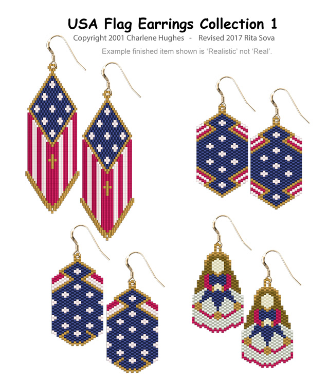 USA Flag Earrings Collection 1