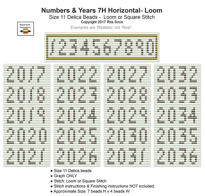 Numbers & Years 7H Loom Horizontal