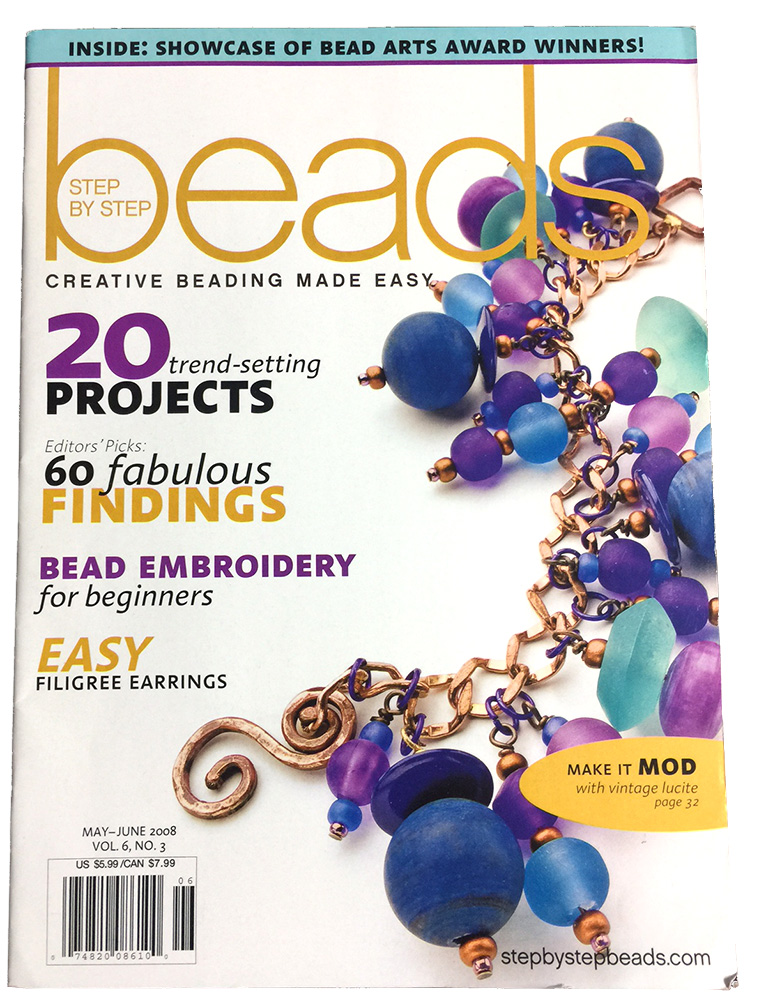 2008 May-Jun, Vol 6 No 3, Step by Step Beads Magazine (Used)