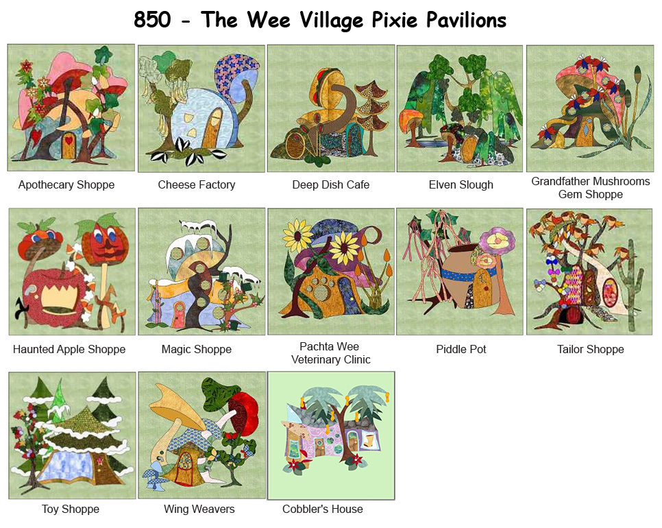 850-Wee Village Pixie Pavilions BOM (PDF Download)