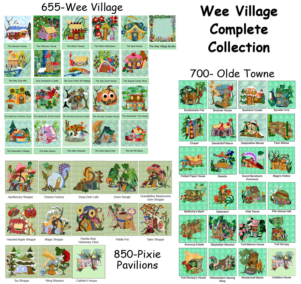 Wee Village Complete Collection BOM (PDF Download)