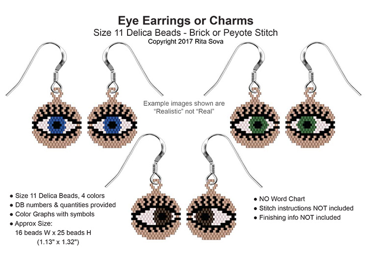 Eye Earrings 3 Styles
