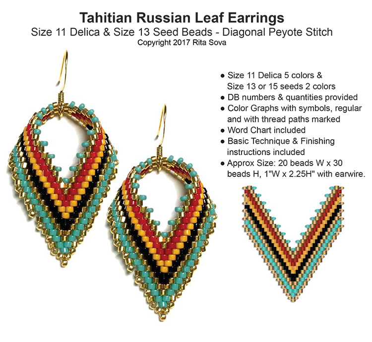 Tahitian Russian Leaf Earrings