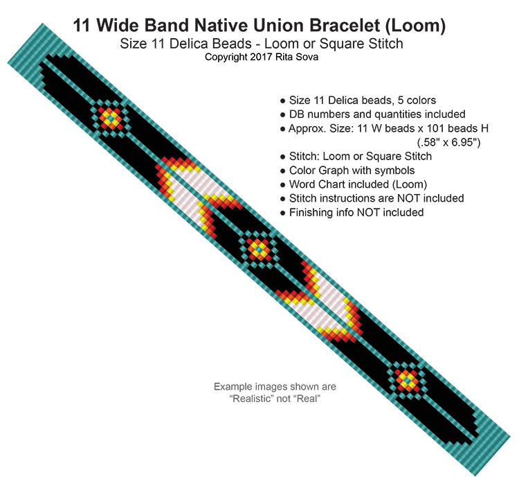 11 Wide Band Native Union Bracelet (Loom)