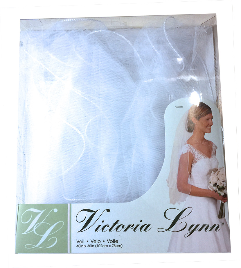 2 Tier Curly Edge w/Comb White Victoria Lynn