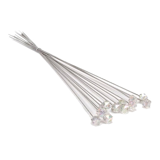 Victoria Lynn AB Faceted Wire Stem 12 Pack